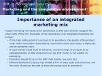 importance of an integrated marketing mix