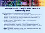monopolistic competition and the marketing mix
