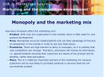 monopoly and the marketing mix