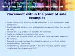placement within the point of sale examples