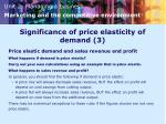 significance of price elasticity of demand 3