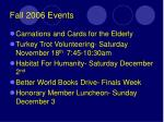 fall 2006 events