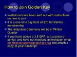 how to join golden key