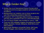 what is golden key