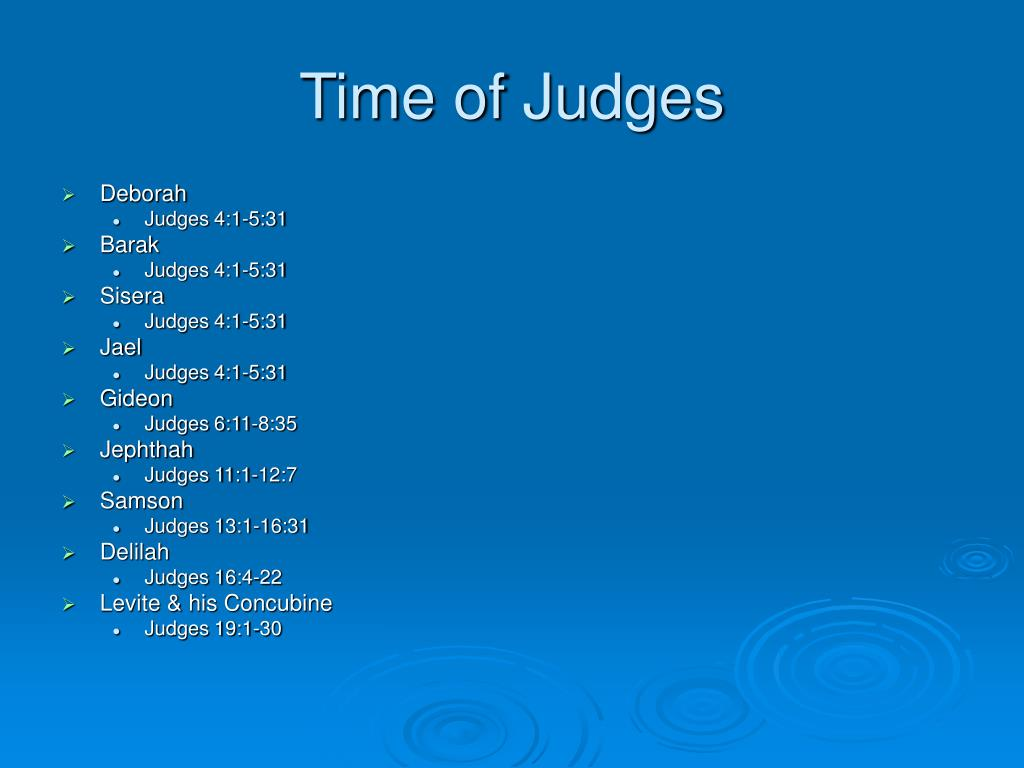 Time of Judges