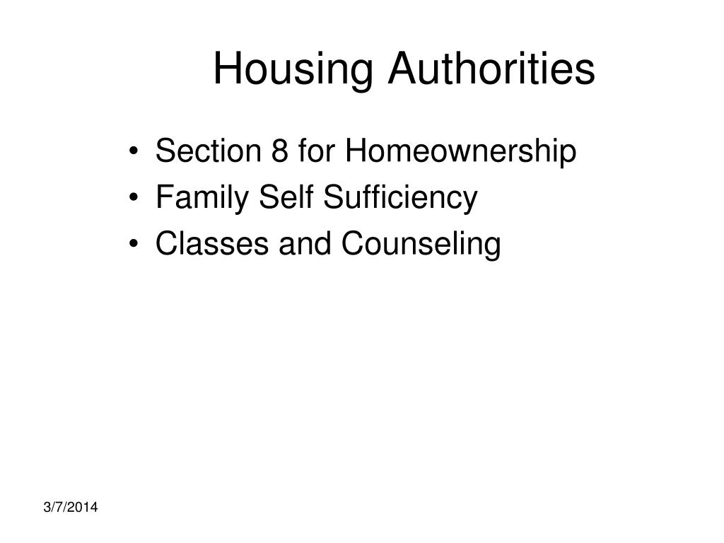 Housing Authorities