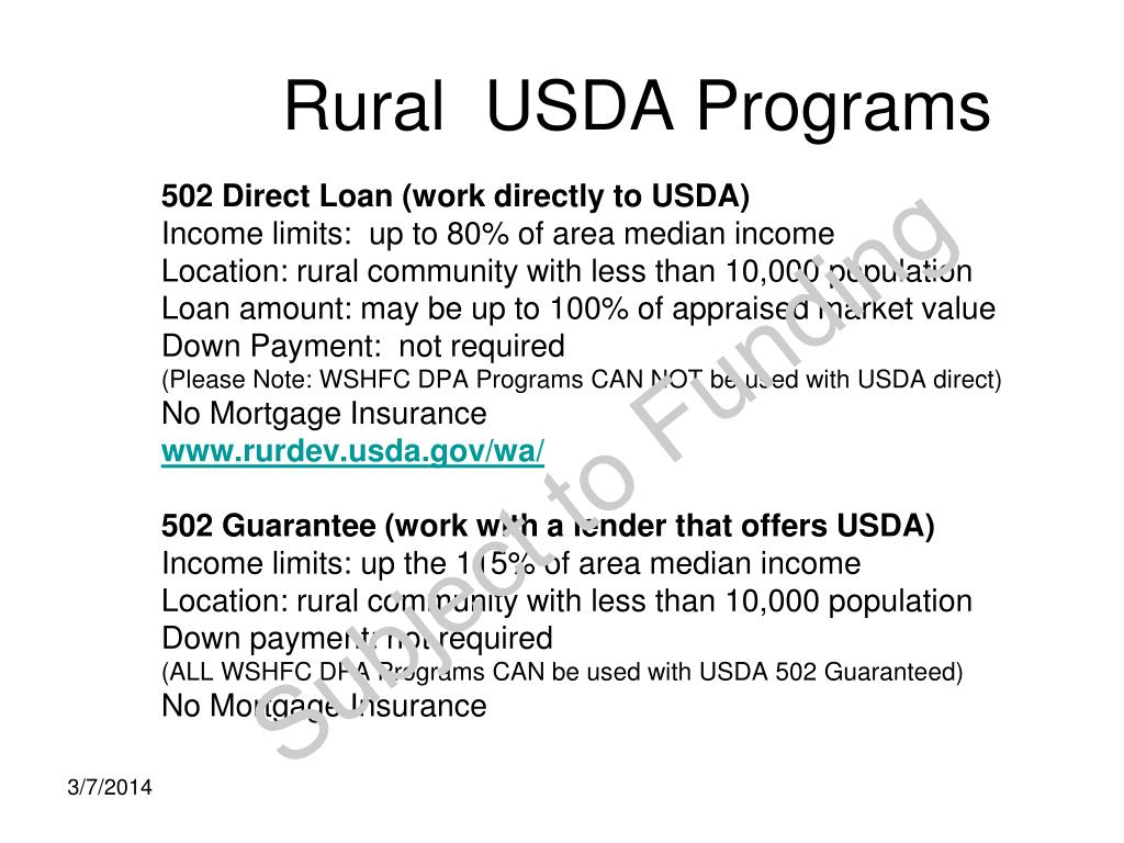 Rural  USDA Programs