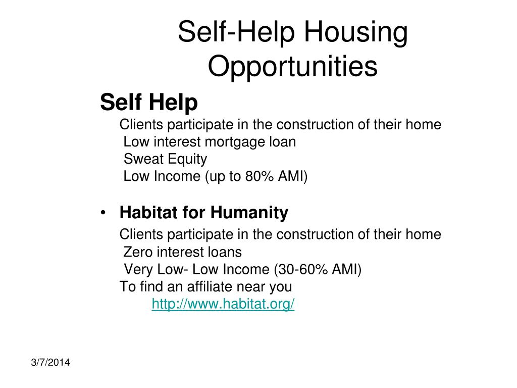 Self-Help Housing Opportunities