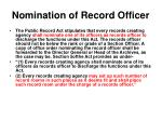 nomination of record officer