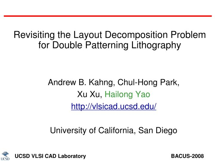 Revisiting the layout decomposition problem for double patterning lithography