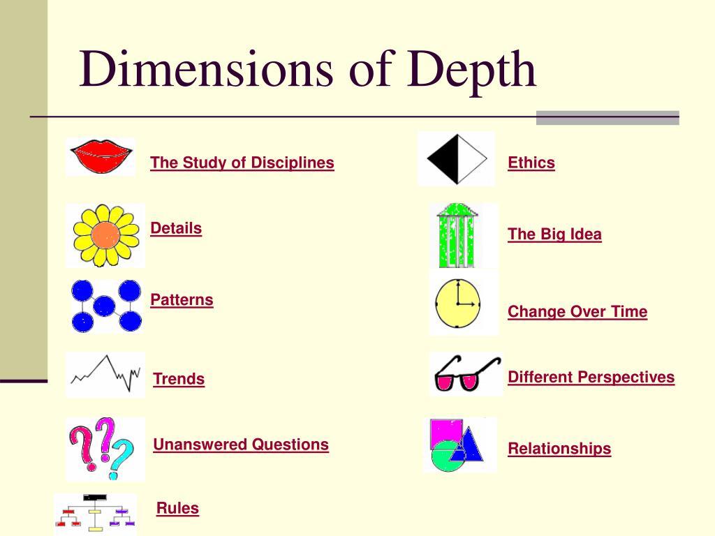 Dimensions of Depth