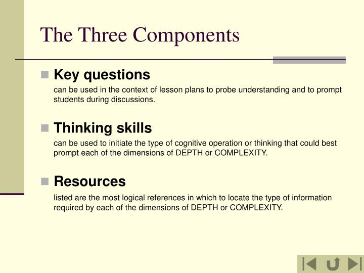 The three components