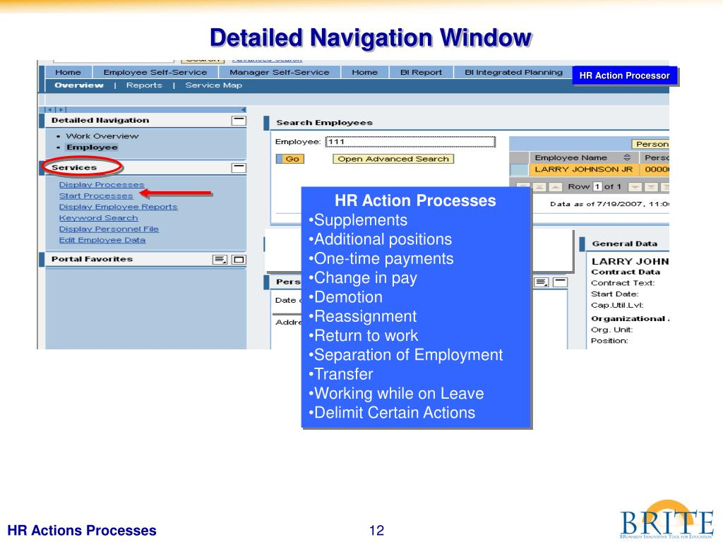 Detailed Navigation Window
