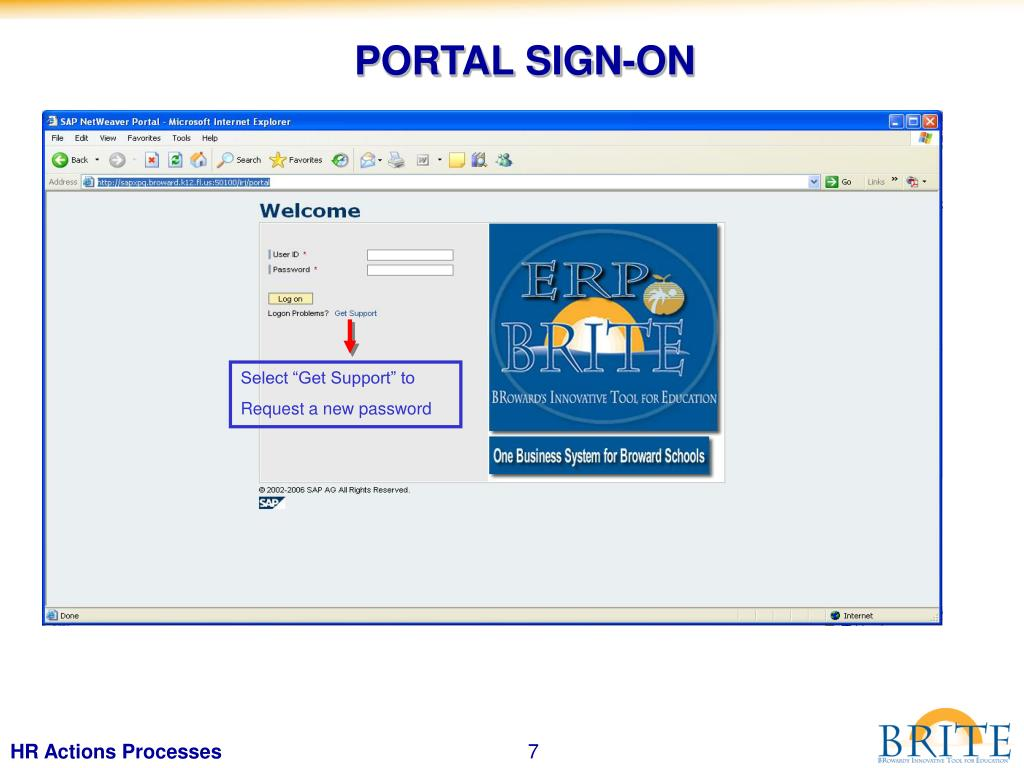 PORTAL SIGN-ON