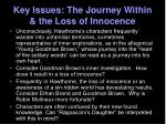key issues the journey within the loss of innocence
