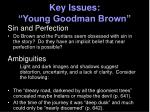 key issues young goodman brown20