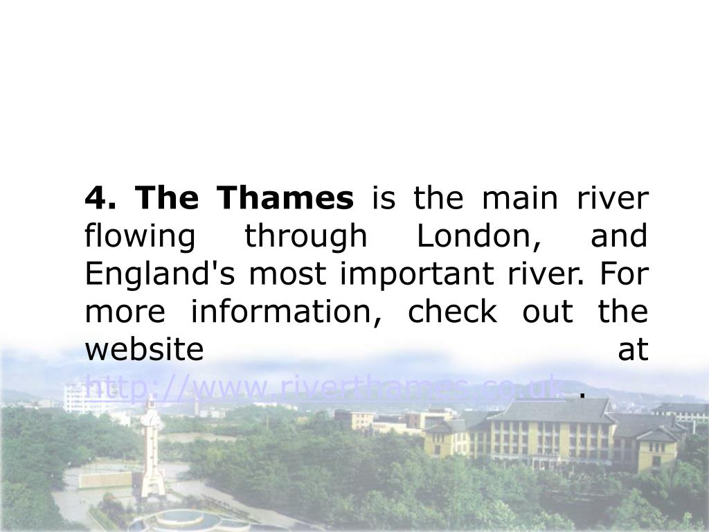 4. The Thames