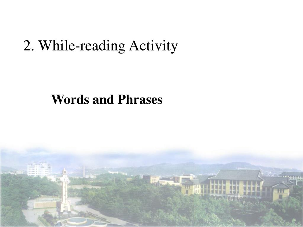 2. While-reading Activity