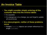 an invoice table14
