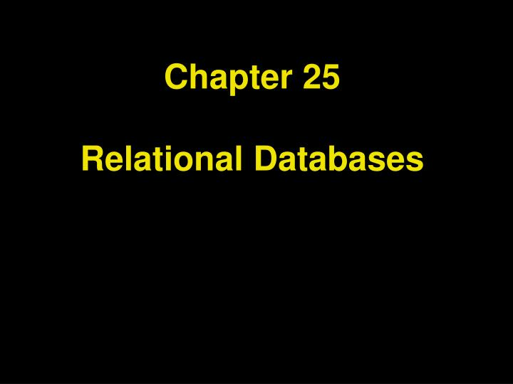 chapter 25 relational databases n.