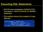 executing sql statements78