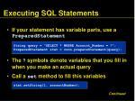 executing sql statements79