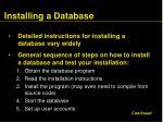 installing a database53