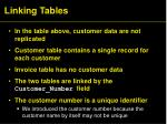 linking tables19