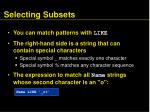 selecting subsets36