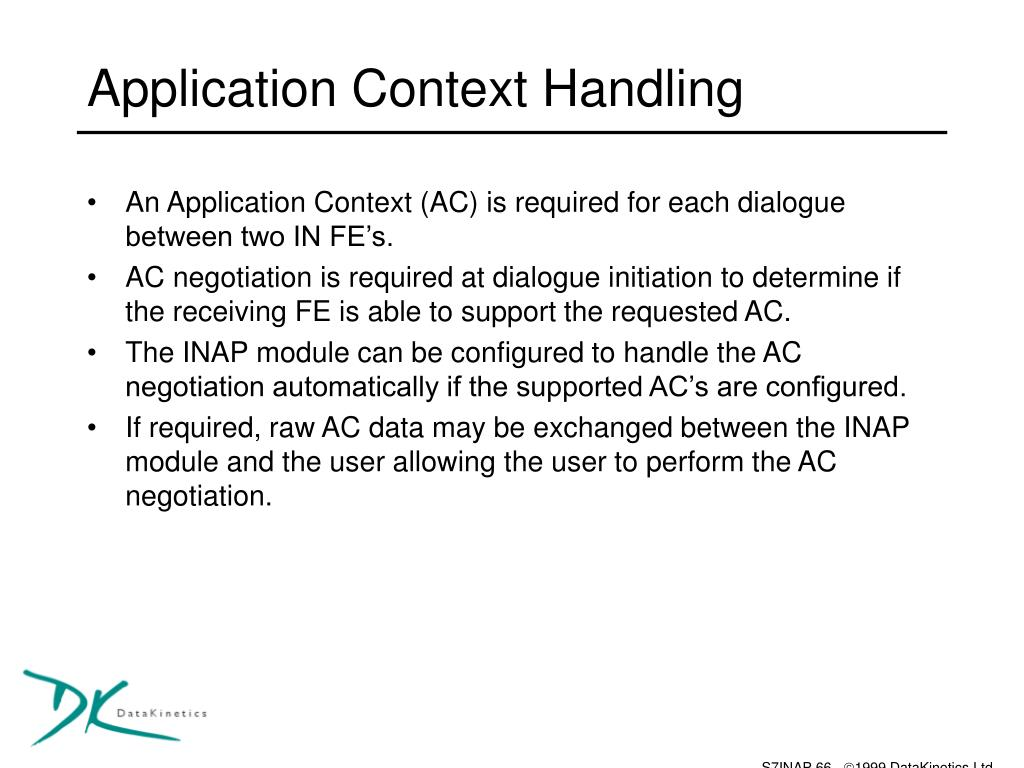 Application Context Handling