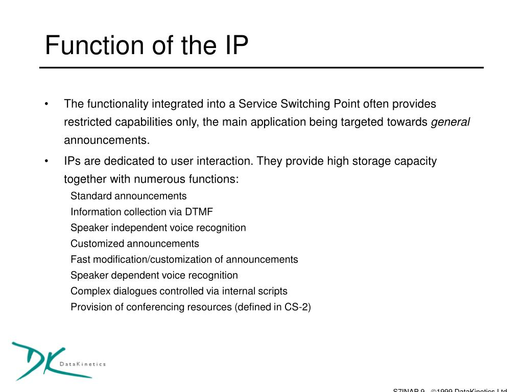 Function of the IP