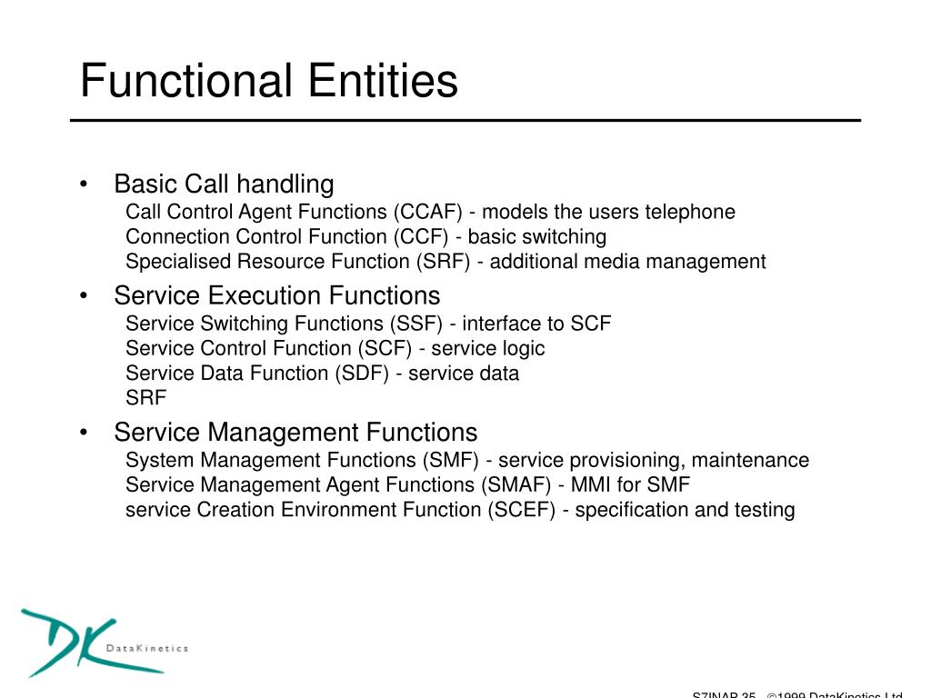 Functional Entities