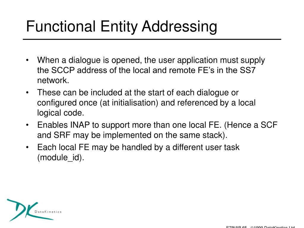 Functional Entity Addressing