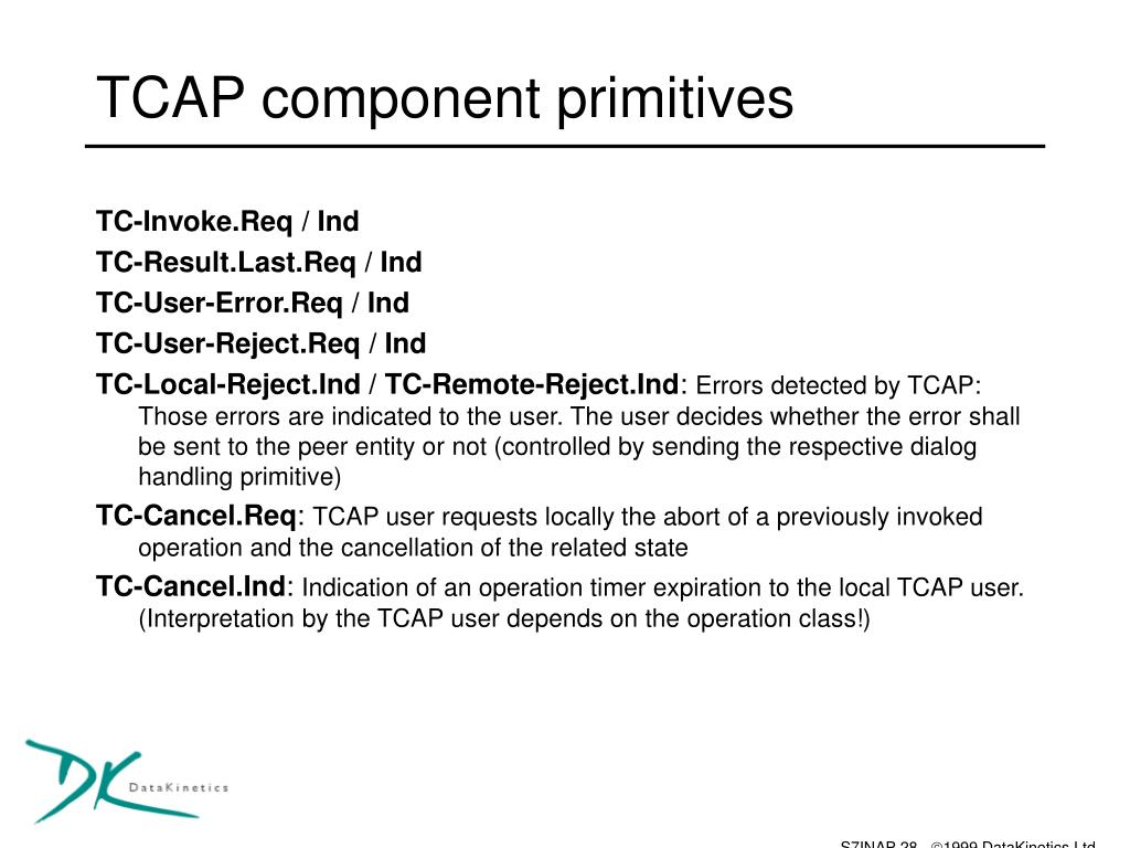 TCAP component primitives