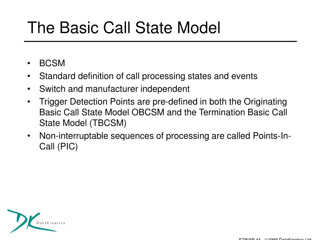 The Basic Call State Model
