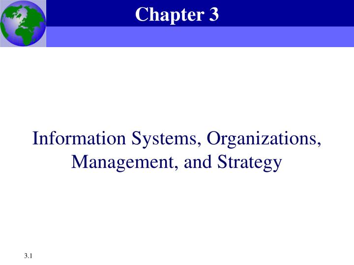 information systems organizations management and strategy n.