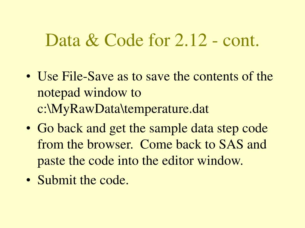 Data & Code for 2.12 - cont.