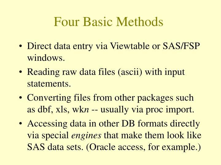 Four basic methods