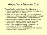 about your town or city