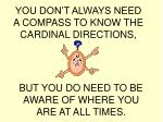 you don t always need a compass to know the cardinal directions