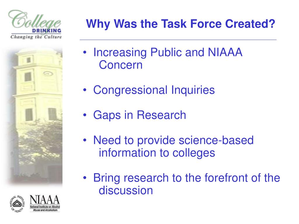 Why Was the Task Force Created?