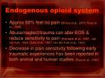 endogenous opioid system