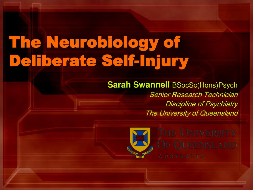 the neurobiology of deliberate self injury