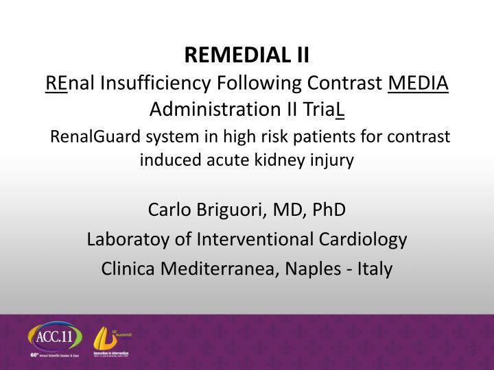 Carlo briguori md phd laboratoy of interventional cardiology clinica mediterranea naples italy