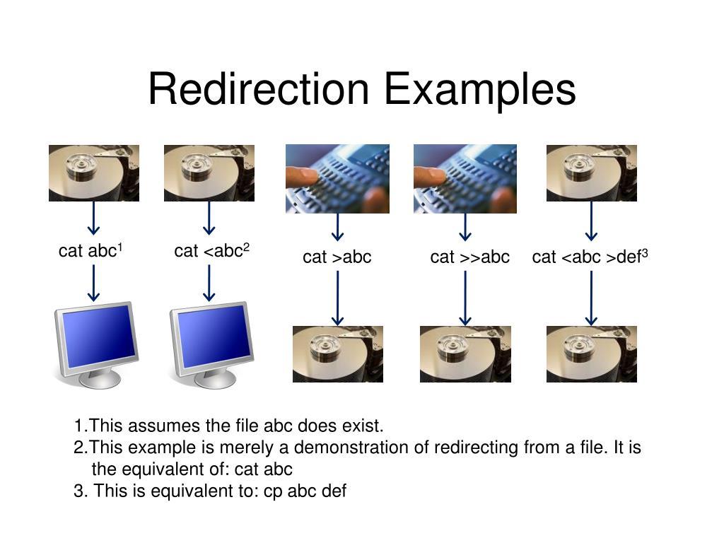 Redirection Examples