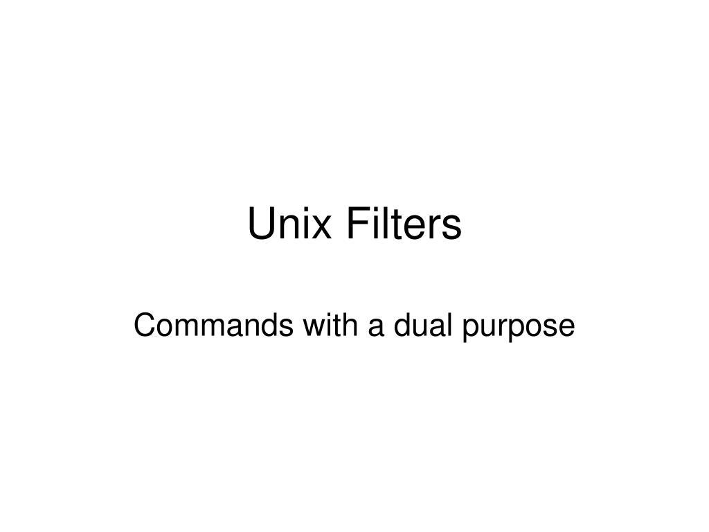 Unix Filters