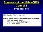 summary of the 29th ncims council i13