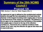 summary of the 29th ncims council i19