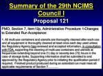 summary of the 29th ncims council i20