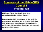 summary of the 29th ncims council i21